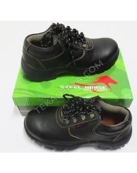 Grain Leather Laced Shoe Dual Density Sole