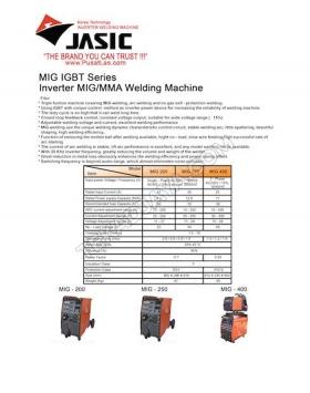 MIG Welding 200-250-400